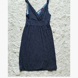 Size S Merona polka dot dress navy blue